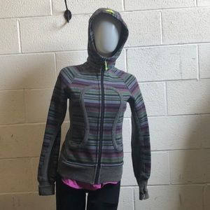 Lululemon multi color scuba hoodie jacket sz 2